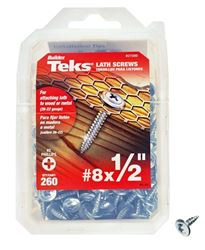 Teks 21500 Lathe Screw, No 8 X 1/2 In, Steel, Zinc Plated