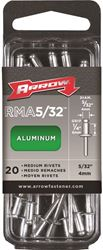 Arrow Rma5/32Ip Medium Rivet, 5/32 In Dia X 1/4 In L, Aluminum