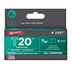 Arrow Fastener 205  Staples, Flat Crown, 5/16 Inch