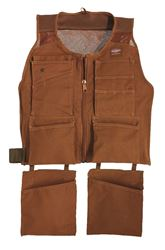 Bucket Boss 80450 Duckwear Supervest, Large/Extra-Large, Cotton, Brown