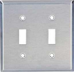 Arrow Hart 93072-BOX Standard Wall Plate, 2 Gang, 4-1/2 in L X 4.56 in W X 0.032 in T