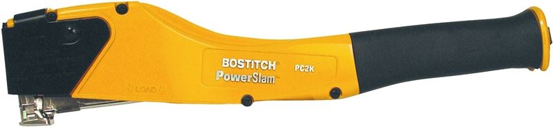 Bostitch PowerSlam PC2K Heavy Duty Hammer Tacker, 7/16 in, 168, Die-Cast