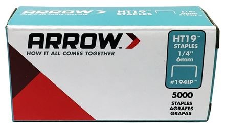 ARROW FASTENER 1941IP STAPLE R19 5000PK 1/4IN