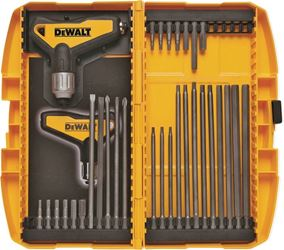 DeWalt DWHT70265 Ratcheting T-Handle Hex Key Set, 31 Pieces