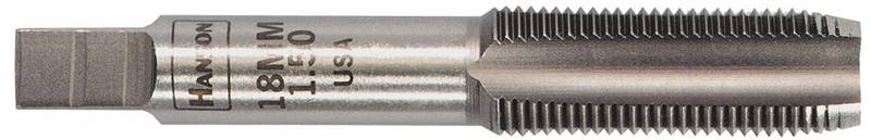 Hanson 8327 Straight Flute Plug Tap, M6 x 1 Metric, High Carbon Steel