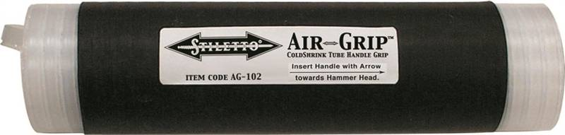 Air Grip Ag-102 Coldshrink Handle Wrap, For Use With 1-7/8 - 3/4 In Handle Diameter, 8 X 2 In Grip
