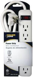 Powerzone OR801124 Power Outlet Strip, 125 V, 15 A, 6 Outlet