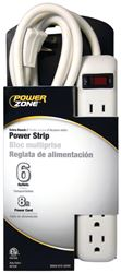 Powerzone OR801115 Power Outlet Strip, 15 A, 6 Outlet
