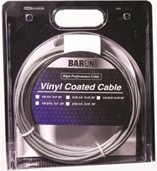 Baron 0 0205/50200 Pre-Cut Aircraft Cable, 1/8 - 1/4 In Dia X 50 Ft L