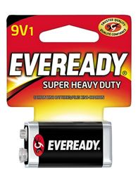 Eveready 1222 Non-Rechargeable Super Heavy Duty Battery, 9 V, Zinc Manganese Dioxide