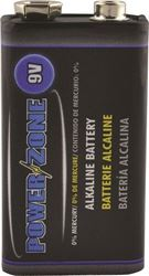 Powerzone 6LR61-1P-DB Alkaline Battery, 9 V