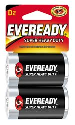 Eveready 1250 Non-Rechargeable Electronic Battery, 1.5 V, D, Zinc Manganese Dioxide