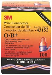 3M O/B+ Wire Connector 100/Box