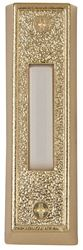 Carlon DH1405L Rectangular Wired Push Button, 2-7/8 in H X 7/8 in D X Lighted White/Gold Base