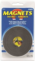 Master Magnetics 07012 Flexible Large Magnetic Tape, 10 ft L X 1/2 in W X 0.06 in T