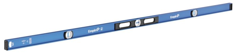 True Blue EM55.78 Magnetic I-Beam Level, 0.0005 in Accuracy, 78 in L, 3 Vials, Aluminum