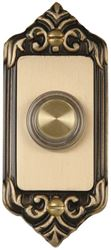 Carlon DH1665L Rectangular Lighted Rim Corded Push Button, 3-1/4 in H x 1-1/2 in W x 3/4 in D