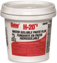Oatey H-205 Water Soluble Flux, 8 Oz, Paste, Off-White To Light Yellow