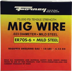 Forney 42286 MIG Welding Wire, 0.030 in Dia, Mild Steel, DCEP Reverse Polarity
