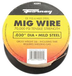 Forney Industries 42291 MIG Welding Wire, 0.03 in, 2 lb Container, Mild Steel, DCEP Reverse