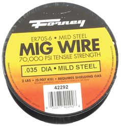 Forney 42292 MIG Welding Wire, 0.035 in Dia, Mild Steel, DCEP Reverse Polarity