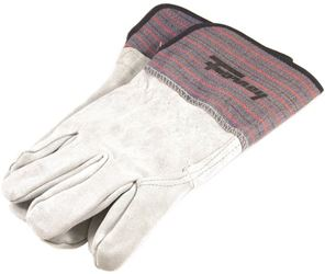Forney 55199 Economy Industrial Welding Gloves, MenGÇÖs, Large, Kevlar, Gray/Blue, Cotton Lining