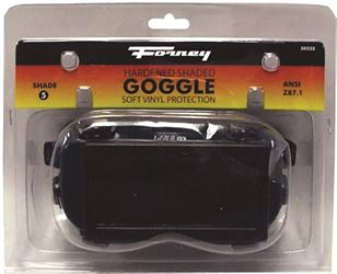 Forney Industries 55301 Oxy-Acetylene Welding Goggle, Clear Shade 5, Green and Black