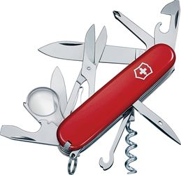 Explorer 53791 Pocket Knife, 16-In-1 Function, Stainless Steel, VX Red