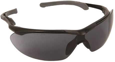 Flight 55433 Safety Glasses, Gray, Black