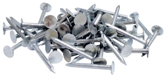 Orgill Bulk Nails Roofing Nail, 1-1/4 in L, Electro-Galvanized