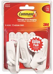 3M 17001-Vp-6Pk Hook Medium Cmmnd