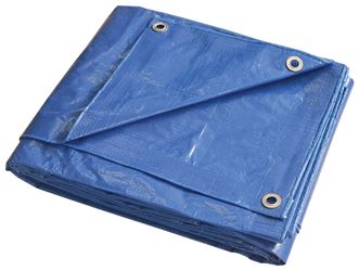 ProSource 9112673 Multi-Purpose Tarp with Aluminum Grommets, 10 ft L x 8 ft W, 8 x 10 in Mesh, Polyethylene