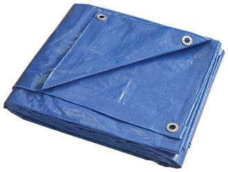 ProSource 9222514 Multi-Purpose Tarp with Aluminum Grommets, 20 ft L x 12 ft W, 8 x 10 in Mesh, Polyethylene