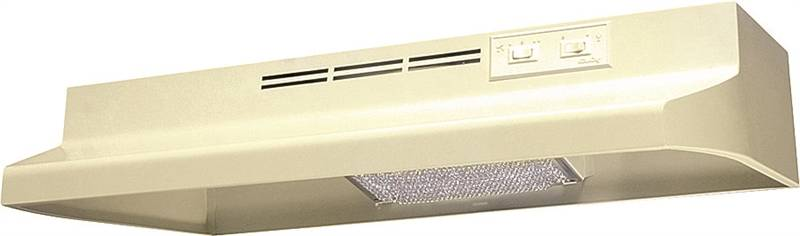 Air King Advantage AD AD1245 Under Cabinet Ductless Range Hood, 180 cfm, 23 ga Cold Rolled Steel