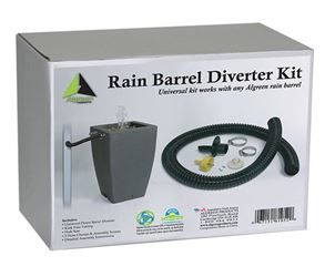 Algreen 81052 Rain Barrel Diverter Kit, Plastic
