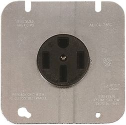 Cooper Industries 1168-2-SP Rectangular Round Power Receptacle, 15/50 A, 125/250 VAC, 18 - 20 AWG, 4 Wires, 3 Poles
