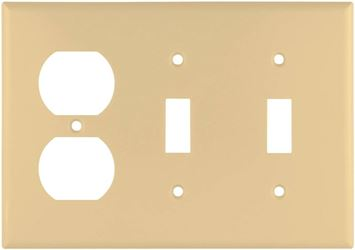 Cooper Industries 2158V-BOX Combination Standard Wall Plate, 4-1/2 in L x 6.37 in W, 0.08 in Thick, Screw Mount