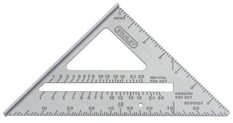 Quick Square 46-067 Square Layout Tool, 10-1/4 in L Base X 6-3/4 in L Rule, Aluminum