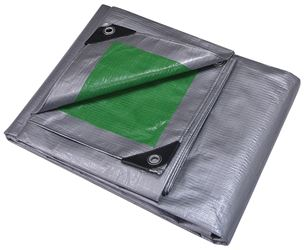 ProSource 9427436 Heavy Duty Reversible Tarp with Aluminum Grommets, 16 ft L x 12 ft W, 12 x 12 in Mesh, Polyethylene