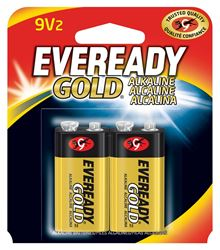 Eveready Gold A522BP Alkaline Battery, 9 V, Zinc Manganese Dioxide