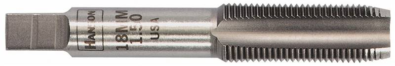 Hanson 8318 Straight Flute Plug Tap, M4 X 0.75 Metric, High Carbon Steel