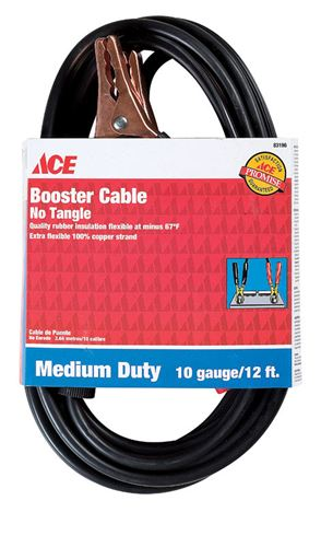 Ace Booster Cable 200 amps 10 Ga. 12 ft. L #VSHE83196