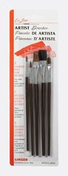 Linzer  Assorted Shapes  Natural Bristle  Artist Paint Brush Set