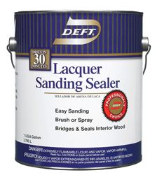 Deft  Alkyd  Lacquer Sanding Sealer  Clear  Lacquer  1 gal.