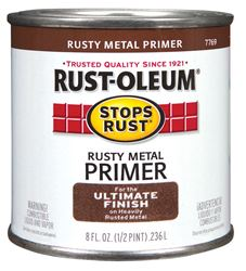 Rust-Oleum  Interior and Exterior  1/2 pt. Rusty Metal Primer  Brown