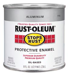 Rust-Oleum  Gloss  Oil-based Protective Enamel Paint  Metallic  1/2 pt.