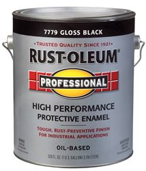 Rust-Oleum  Oil Based  High Performance Protective Enamel  Black  Gloss  1 gal.