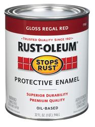 Rust-Oleum  Gloss  Oil-based Protective Enamel Paint  Regal Red  1 qt.