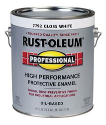 Rust-Oleum  Oil Based  High Performance Protective Enamel  White  Gloss  1 gal.