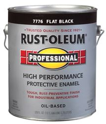 Rust-Oleum  Oil Based  High Performance Protective Enamel  Black  Flat  1 gal.